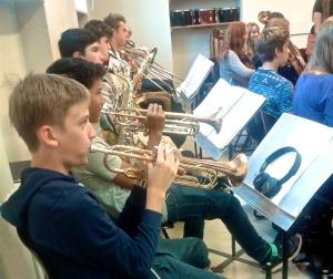 Die Musikklasse 9 bei der Probe