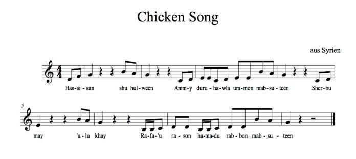 Chicken Song Noten