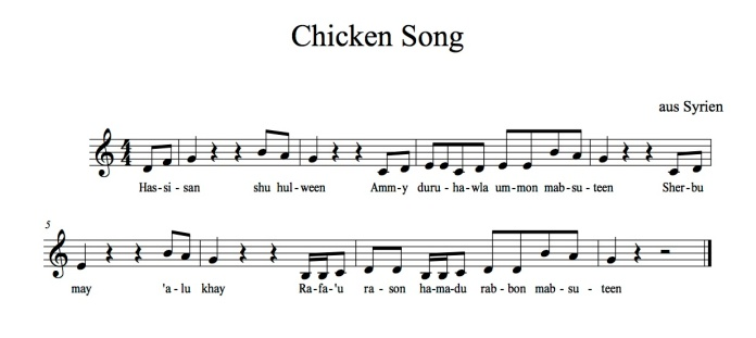 Chicken Song Noten