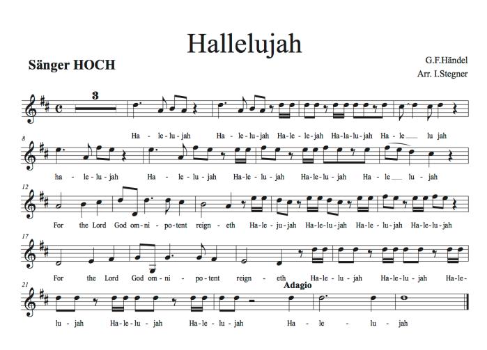 Hallelujah kurz SÄNGER