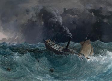 Thomas_Ender_Dampfschiff_Marianne_im_Sturm_am_Schwarzen_Meer
